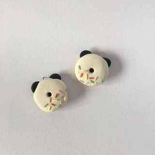 2pcs Panda Donut Charm