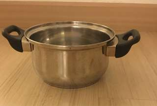 Stainless Steel cooking pot with handles
