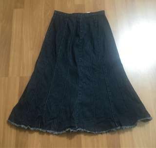 Kid denim jeans skirt