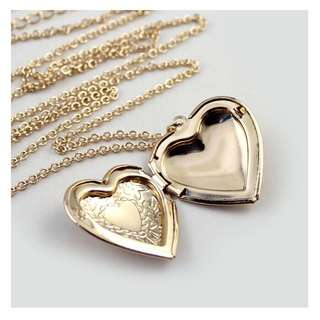 Forever 21 Heart Locket Necklace