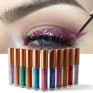 🦋12 Colors Glitter Shimmer Metallic Eyeliner Liquid Cosmetics🦋