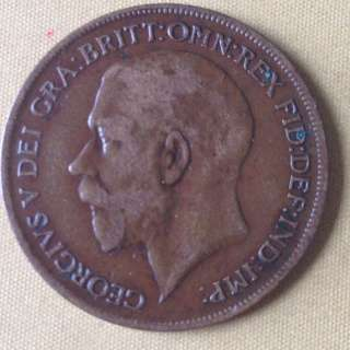 1922 GB One Penny coin.