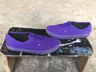 Vans Purple Low Tops