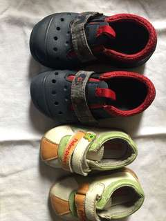 Shoes (fisher price and crocs)