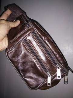 Brand New Faux Leather Brown Belt Bag