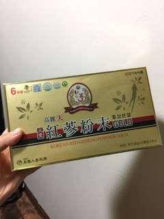 韓國帶回養生補氣高麗紅參粉末補藥之王6年根