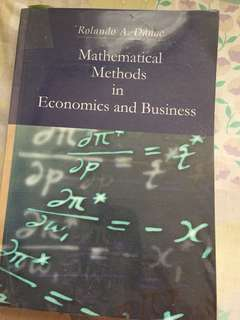 Mathematical methods in economics and business