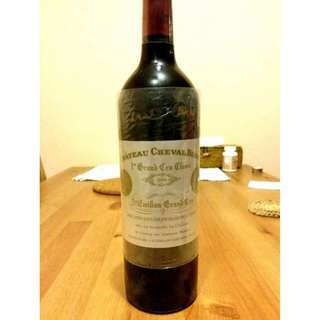 Chateau Cheval Blanc 2004 with Pierre Lurton Sign lafite mouton hautbrion latour bordeaux 法國波爾多紅酒 wine red wine