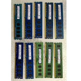 10x DDR3 RAM 4GB Stick-1600speed