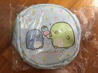 Sumikko gurashi round zipper pouch
