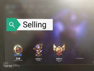 League Of Legends Gold Account MY/SG
