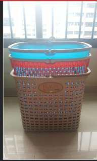 [U.P.S$40] New---3 Plastic Baskets -- solid/hard/Large Capacity