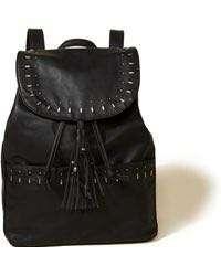 Hollister Black Drawstring Backpack
