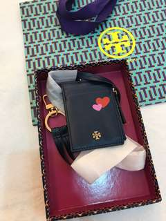 Ready Stock Original Tory Burch women lanyard card holder
