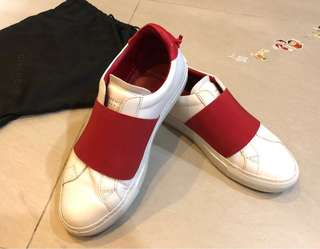 Givenchy ELASTIC STRAP SNEAKERS IN LEATHER - Red 37