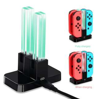 DOBE Switch Joy-Cons Controller Charging Dock Station with LED for Nintendo Switch