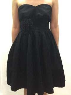 BYSI black chiffon tube dress