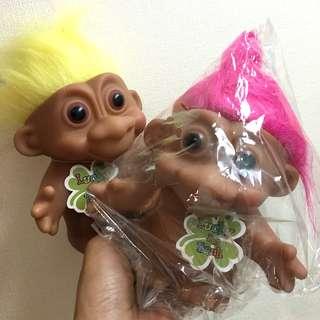 🚚 日本 大隻的幸運小子存錢筒 螢光粉 黃色