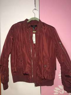 Forever 21 Red Bomber Jacket