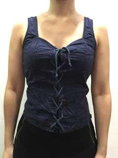 Penshoppe Navy blue corset top