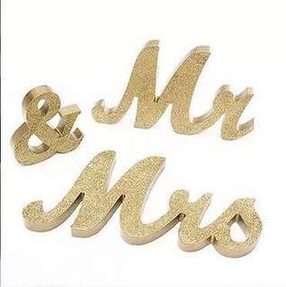 Mr & Mrs Signage for Rent