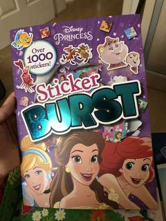 Cinderella Mermaid Princess Sticker book