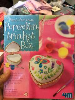 Paint your own porcelain trinket box