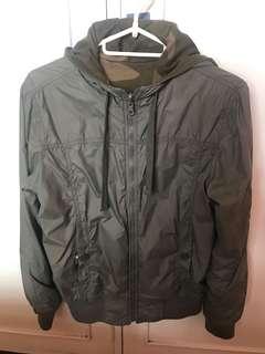 Army Camo Green Hoodie Jacket