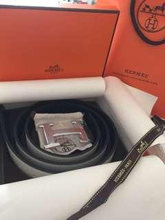 Designer Leather Reversible Belt