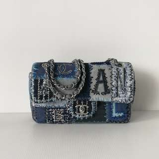 Authentic Chanel Limited Edition Denim Flap Bag