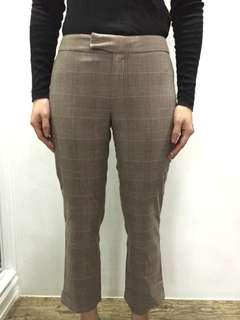 Brown checkered pants