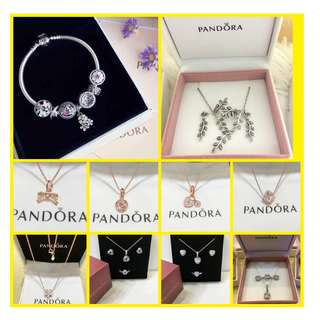 AUTHENTIC PANDORA EARRING RINGS NECKLACE SET FOR SALE RESELLERS ARE WELCOME