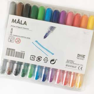 Ikea Måla Markers (Pack of 12)