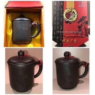 紫砂茶杯 Chinese Tea Cup made of Purple Grade Ceramic