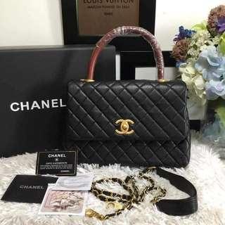 Chanel Coco Top Handle in Caviar
