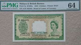 Beautiful Graded 64 Malaya $5