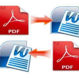 Convert PDF to Word Document, Vice Versa