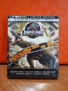 USA Blu Ray 4K UHD - Jurassic Park Collection (4 Movies, 8 Discs, DTS-X)