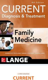 CURRENT Diagnosis & Treatment in Family Medicine – 4th edition