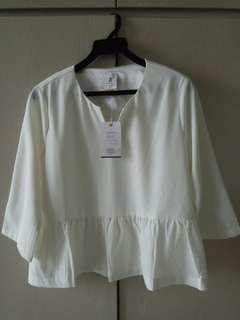Long Sleeve Cream White top/blouse