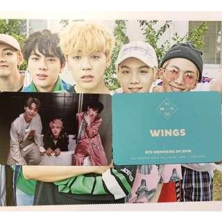 """防彈少年團 BTS MEMORIES OF 2016 小卡 """"WINGS"""" JIMIN SUGA JIN"""