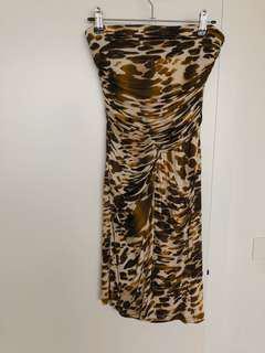 Mango leopard dress