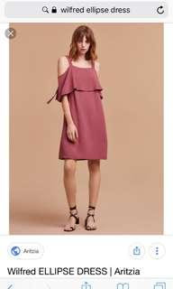 Wilfred Ellipse dress in blush pink (XS)