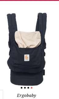 Ergo Baby Carrier ( Cotton, Black)