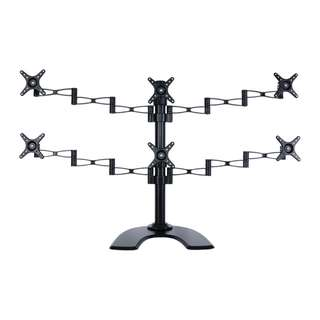 "6 x Monitors Desktop stand for up to 24"" black Whatsapp:8778 1601"