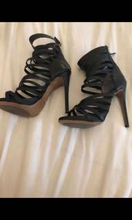 Tony Bianco Adora Black Heel Size 6 and a Half *Never Worn