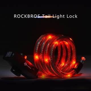 Rockbros Waterproof Cable Lock with Rechargeable Light
