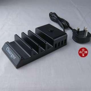 拖板式 4接口 USB 充電台