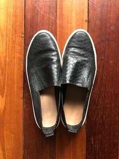 Used Black Animal Print Stradivarius sneakers