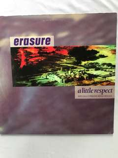 Vinyl Record by Erasure -A Little Respect 12""